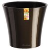 Arte Self Watering Plastic Pot Planter - Size: 4.1 inch High x 4.3 inch Wide x 4.3 inch Deep - Color: White/Purple - Santino Planters