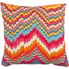 PEM America Flamestitch Throw Pillow