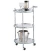 OIA Sleek Chrome Serving Cart