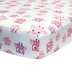 Belle Dancing Owl Fitted Crib Sheet
