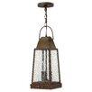 Hinkley Lighting Sedgwick 3 Light Outdoor Hanging Lantern
