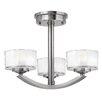 Hinkley Lighting Meridian 3 Light Semi Flush Mount