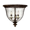 Hinkley Lighting Rockford 3 Light Flush Mount