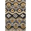 Safavieh Tibetan Black/Gold Ikat Rug