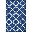 Safavieh Dhurries Dark Blue/Ivory Area Rug