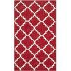 Safavieh Dhurries Red/Ivory Area Rug