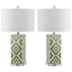 "Safavieh Diamonds 27"" H Table Lamp with Drum Shade (Set of 2)"