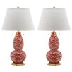 "Safavieh Swirls 32"" H Table Lamp with Empire Shade (Set of 2)"