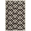 Safavieh Safavieh Dhurries Chocolate/Ivory Area Rug