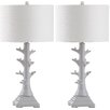 """Safavieh Styx 29"""" H Table Lamp with Drum Shade (Set of 2)"""