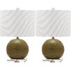 """Safavieh Conway 20.5"""" H Table Lamp with Drum Shade (Set of 2)"""