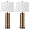 """Safavieh Linus 28.5"""" H Table Lamp with Empire Shade (Set of 2)"""