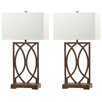 "Safavieh Jago 29.5"" H Table Lamp with Rectangular Shade (Set of 2)"