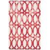 Safavieh Dip Dye Ivory/Red Area Rug