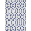 Safavieh Dhurries Ivory/Purple Rug