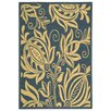Safavieh Courtyard Blue/Natural Area Rug
