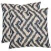 Safavieh Teddy Cotton Throw Pillow (Set of 2)