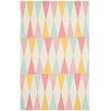 Safavieh Backgammon Hand-Loomed Pink/Yellow Area Rug