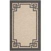 Safavieh Deco Border Hand-Hooked Ivory/Charcoal Indoor/Outdoor Area Rug