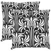 Safavieh Damia Cotton Decorative Cotton Throw Pillow (Set of 2)