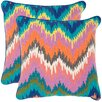 Safavieh Dripping Stiches Neon Cotton Throw Pillow (Set of 2)