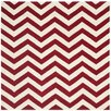 Safavieh Chatham Red & Ivory Chevron Area Rug