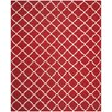 Safavieh Dhurries Red/Ivory Area Rug