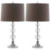 "Safavieh Keeva Ball 27"" H Table Lamp with Empire Shade (Set of 2)"
