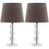 Safavieh Erin Cube 15'' H Table Lamp with Empire Shade (Set of 2)