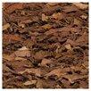 Safavieh Leather Shag Hand-Woven Brown Area Rug