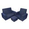 Fun Furnishings 3 Piece Kids Sofa Chair and Ottoman Set