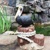 Hewett Winter Pelican Beach Statue - Highland Dunes Garden Statues and Outdoor Accents