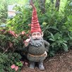 Rumple the Garden Gnome Thumbs Up Statue - Size: 14.5 inch High x 6.75 inch Wide x 5.25 inch Deep - Gnomes of Toad Hollow Garden Statues and Outdoor Accents
