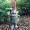 Rumple the Garden Gnome Thumbs Up Statue - Size: 34 inch High x 14.5 inch Wide x 9.5 inch Deep - Gnomes of Toad Hollow Garden Statues and Outdoor Accents