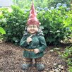 Zelda the Female Garden Gnome Statue - Size: 20 inch High x 8 inch Wide x 7 inch Deep - Gnomes of Toad Hollow Garden Statues and Outdoor Accents