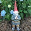 Mordecai the Garden Gnome Praying Hands Statue - Size: 20 inch High x 6 inch Wide x 8.25 inch Deep - Gnomes of Toad Hollow Garden Statues and Outdoor Accents