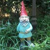 Grimmbel the Garden Gnome Statue - Size: 14 inch High x 4.75 inch Wide x 6.25 inch Deep - Gnomes of Toad Hollow Garden Statues and Outdoor Accents