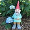 Grimmbel the Garden Gnome Statue - Size: 20 inch High x 6.5 inch Wide x 7.5 inch Deep - Gnomes of Toad Hollow Garden Statues and Outdoor Accents