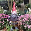 Merlin the Garden Gnome Statue - Size: 20 inch High x 8.5 inch Wide x 7 inch Deep - Gnomes of Toad Hollow Garden Statues and Outdoor Accents