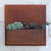 Hip To Be Steel Wall Planter - Color: Rust - Urban Mettle Planters