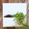 Hip To Be Steel Wall Planter - Color: White - Urban Mettle Planters