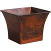 Zinc Pot Planter - Color: Light Wood Copper - Craftware Planters