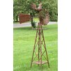 Large Stand Windmill with Rooster - Zaer Ltd International Garden Statues and Outdoor Accents