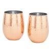 Old Dutch International 17 oz. Stemless Wine Glass (Set of 2)