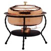 Old Dutch International Oval Decor Copper Chafing Dish