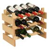 Wooden Mallet Dakota 12 Bottle Floor Wine Rack