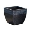 Square Fiberclay Pot Planter - Size: 14.4 inch High x 15 inch Wide x 15 inch Deep - Winsome House Planters