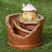 Flower House Planter Miniature Fairy Garden Statue - Winsome House Garden Statues and Outdoor Accents