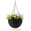 Round Plastic Hanging Planter - Color: Espresso Brown - Keter Planters