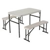"Lifetime 3 Piece 42"" Rectangular Folding Table Set"